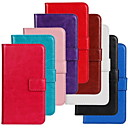 cheap Earrings-Case For Nokia Lumia 625 / Nokia Lumia 630 / Nokia Nokia Case Wallet / Card Holder / with Stand Full Body Cases Solid Colored Hard PU Leather for