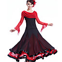 preiswerte Tanzkleidung für Balltänze-Für den Ballsaal Kleider Damen Leistung Krepp / Milchfieber Drapiert Kleid / Moderner Tanz