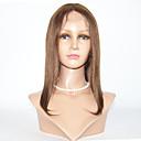 billige Lukning og frontside-Ekte hår Helblonde Parykk Rett Parykk 130% Naturlig hårlinje / Afroamerikansk parykk / 100 % håndknyttet Dame Kort / Medium Blondeparykker med menneskehår