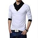 お買い得  メンズブーツ-男性用 スポーツ ワーク プラスサイズ Tシャツ ソリッド カラーブロック コットン
