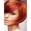 abordables Perruques Synthétiques Sans Bonnet-Perruque Synthétique Droit Style Sans bonnet Perruque Rouge Rouge Cheveux Synthétiques Rouge Perruque Court