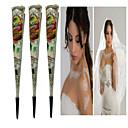cheap Temporary Paints-3 pcs Henna Cones Temporary Tattoos Non Toxic Body Arts Face / Hand / Brachium