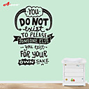 cheap Wall Stickers-Decorative Wall Stickers - Words & Quotes Wall Stickers Still Life Chalkboard Fashion Food Holiday Words & Quotes Living Room Bedroom