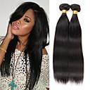 hesapli Gerçek Saç Örgüleri-İri Dalgalı Peru Saçı Düz İnsan saç örgüleri 3 Paket 8-26 inç İnsan saç örgüleri Doğal Renk İnsan Saç Uzantıları Kadın's