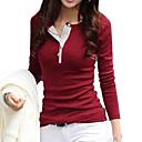 preiswerte Modische Halsketten-Damen Solide - Freizeit / Street Schick Baumwolle T-shirt