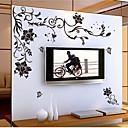 halpa Seinätarrat-Maisema Asetelma Romantiikka Kukkakuviot Kasvitiede Wall Tarrat Lentokone-seinätarrat Koriste-seinätarrat, Vinyyli Kodinsisustus