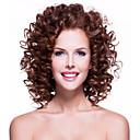 preiswerte Synthetische Perücken ohne Kappe-Synthetische Perücken Locken Synthetische Haare Afro-amerikanische Perücke Perücke Damen Medium Kappenlos