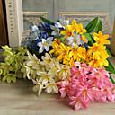 baratos Flor artificiali-Flores artificiais 1 Ramo buquês de Noiva Lírios Flor de Mesa