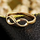 cheap Rings-Women's Band Ring - Zircon, Gold Plated Infinity 6 / 7 / 8 Golden For Wedding / Party / Daily