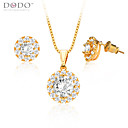 cheap Rings-Women's Crystal Jewelry Set - Crystal, Gold Plated, Imitation Diamond Include Gold For Wedding / Party / Daily / Earrings / Necklace