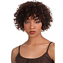 tanie Słuchawki i zestawy słuchawkowe-Peruki syntetyczne Curly Włosie synetyczne Peruka afroamerykańska Brązowy Peruka Damskie Krótkie Bez czepka Brązowy