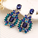 cheap Earrings-Women's Crystal Drop Earrings - Cubic Zirconia Luxury Blue For