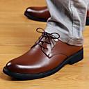 abordables Oxfords para Hombre-Hombre Zapatos Cuero Sintético Confort Tacón Plano Negro / Marrón