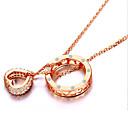 preiswerte Modische Halsketten-Damen Kristall Anhängerketten - Sterling Silber, Strass, Silber Herz, Liebe Modisch Gold, Silber Modische Halsketten Schmuck Für Party, Alltag, Normal