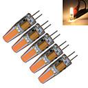 olcso Fali rögzítők-5pcs 3000-3200/6000-6500 lm G4 LED gyertyaizzók T 1 led COB Dekoratív Meleg fehér Hideg fehér AC 12V DC 12V