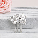 cheap Party Headpieces-Rhinestone Hair Combs / Headwear with Floral 1pc Wedding / Special Occasion / Casual Headpiece