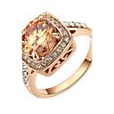 baratos Anéis-Cristal Anel - Imitações de Diamante Luxo, Pedras dos signos Vermelho / Champanhe Para Festa