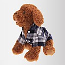 cheap Dog Clothes-Cat Dog Shirt / T-Shirt Dog Clothes Plaid / Check Red Green Blue Cotton Costume For Spring &  Fall Summer Men's Women's Classic Casual / Daily