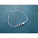 preiswerte Modische Armbänder-Damen Ketten- & Glieder-Armbänder - Herz, Liebe, Unendlichkeit Armbänder Silber / Golden Für Alltag