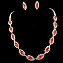 ieftine Inele la Modă-Pentru femei Ștras Set bijuterii - Altele Rosu