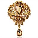 povoljno Naušnice-Žene Broševi Kristal Moda Broš Jewelry Dark Blue Svjetloplav Svjetlosmeđ Za Vjenčanje Party