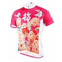 baratos Conjuntos de Bijuteria-ILPALADINO Homens Manga Curta Camisa para Ciclismo - Vermelho Claro Moto Camisa / Roupas Para Esporte, Secagem Rápida, Resistente Raios