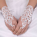 cheap Women's Heels-Elastic Satin / Silk Wrist Length Glove Bridal Gloves With Bowknot