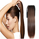 cheap Synthetic Lace Wigs-claw clip drawstring synthetic 16 inch long straight ponytail