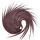 abordables Trenzas-99J Box Trenzas Afro rizado Trenzas Extensiones de cabello 18inc Kanekalon 20/1 Hebra 90g gramo Las trenzas de pelo