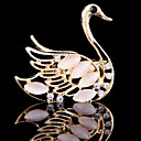 cheap Brooches-Women's Brooches - Crystal, Cubic Zirconia Swan, Animal Party, Work, Casual Brooch For Wedding / Party / Special Occasion