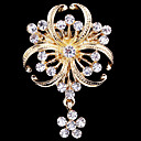 cheap Brooches-Women's Brooches - Crystal, Cubic Zirconia Party, Work, Casual Brooch Gold For Wedding / Party / Special Occasion