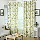 cheap Prints-Rod Pocket Grommet Top Tab Top Double Pleat Pencil Pleat Two Panels Curtain Country, Print Bedroom Linen / Cotton Blend Material Curtains