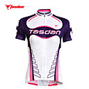 cheap Cycling Pants, Shorts, Tights-TASDAN Women's Short Sleeve Cycling Jersey Plus Size Bike Jersey Top Clothing Suit Breathable Quick Dry Ultraviolet Resistant Sports 100% Polyester Mountain Bike MTB Road Bike Cycling Clothing Apparel