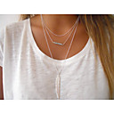 olcso Divat nyaklánc-Női Kristály Strassz Nyaklánc medálok - Európai, minimalista stílusú, Divat Ezüst, Aranyozott Nyakláncok Kompatibilitás Parti, Napi, Hétköznapi