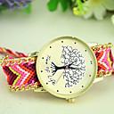 זול שעוני צמיד-בגדי ריקוד נשים קווארץ שעון יד מכירה חמה בד להקה בוהמי אופנתי צבעוני
