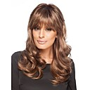 cheap Synthetic Capless Wigs-Synthetic Wig Women's Curly Synthetic Hair Wig Medium Length Capless Brown