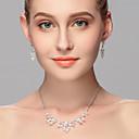 ieftine Set de Bijuterii-Pentru femei Ștras Set bijuterii - Altele Argintiu