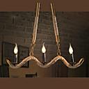 baratos Luzes Pingente-Ilha Lustres Luz Ambiente Galvanizar Metal Tecido Estilo Vela 110-120V / 220-240V Lâmpada Não Incluída / E12 / E14