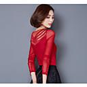 olcso Billentyűzet tartozékok-V-alakú Női Extra méret Póló - Egyszínű, Csipke / Tavasz