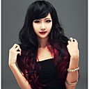 preiswerte Kostümperücke-Synthetische Perücken Locken Ombre Synthetische Haare Gefärbte Haarspitzen (Ombré Hair) Ombre Perücke Damen Lang Kappenlos Regenbogen
