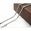 cheap Men's Necklaces-Men's Chain Necklace - Titanium Steel Silver Necklace For Christmas Gifts, Daily, Casual