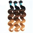 זול תוספות שיער אומברה-3 חבילות שיער ברזיאלי Body Wave שיער בתולי אחרים שוזרת שיער אנושי רך תוספות שיער אדם
