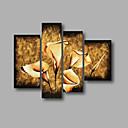 povoljno Poznate slike-Hang oslikana uljanim bojama Ručno oslikana - Cvjetni / Botanički Moderna Platno
