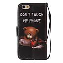 olcso Mobiltelefon tokok & Képernyő védők-Case Kompatibilitás Apple iPhone 6 Plus / iPhone 6 Pénztárca / Kártyatartó / Állvánnyal Héjtok Szó / bölcselet Kemény PU bőr mert iPhone 6s Plus / iPhone 6s / iPhone 6 Plus
