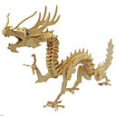 cheap 3D Puzzles-3D Puzzle Wooden Puzzle Wooden Model Dragon Wood Boys' Girls' Toy Gift