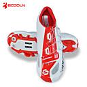 baratos Sapatos de Ciclismo-SIDEBIKE Tênis para Mountain Bike Fibra de Carbono Prova-de-Água, Anti-Escorregar, Almofadado Ciclismo Vermelho / Branco Homens