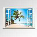baratos Impressões-Paisagem Pessoas Romance Lazer Fotografia Moderno Viagem 1 Painel Horizontal Estampado Decoração de Parede Decoração para casa