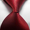 baratos Acessórios Masculinos-Homens Festa/Noite Estilo Formal Luxo Listras Escritório/Negócio Gravata - Fashion Criativo