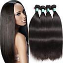 cheap Natural Color Hair Weaves-4 pcs lot 8 30 brazilian virgin hair straight human hair extensions 100 unprocessed brazilian remy hair weaves
