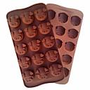 olcso Okosórák-sertés fej formázó szerszám penészgolyó rugalmas szilikon forma cukorka csokoládé sütéshez